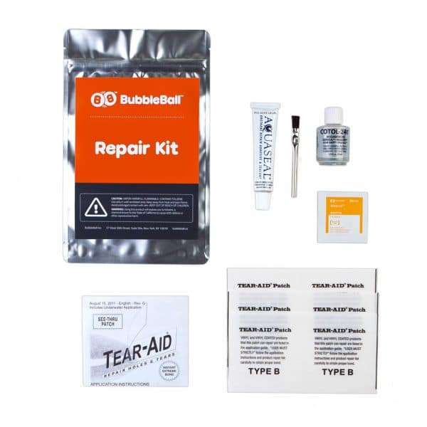 Bubble soccer bubbleball repair kit patch
