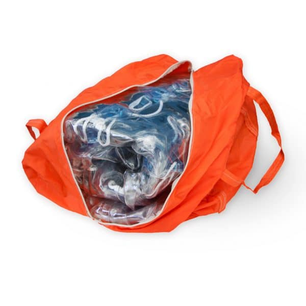 bubble soccer bag orange